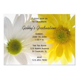 Zwei Gänseblümchen-Abschluss-Party Einladung
