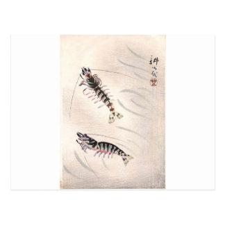 Zwei Garnelen durch Yamamura Toyonari Postkarte