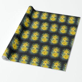Zwei gelbe Blumen Topinambur Geschenkpapier