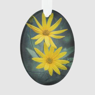 Zwei gelbe Blumen Topinambur Ornament