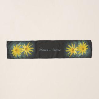 Zwei gelbe Blumen Topinambur Schal