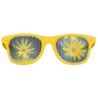 Zwei gelbe Blumen Topinambur Sonnenbrille
