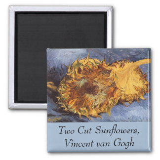 Zwei geschnittene Sonnenblumen durch Vincent van Quadratischer Magnet