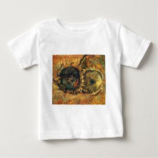 Zwei geschnittenes Sonnenblume-Gelb - Vincent van Baby T-shirt