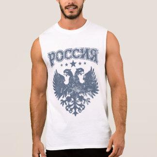 Zwei gingen Russen Eagle voran Ärmelloses Shirt