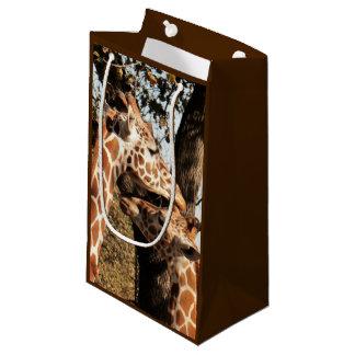 Zwei Giraffen-Geschenk-Tasche Kleine Geschenktüte