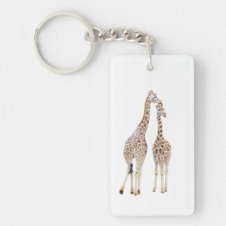 Zwei Giraffen Schlüsselanhänger