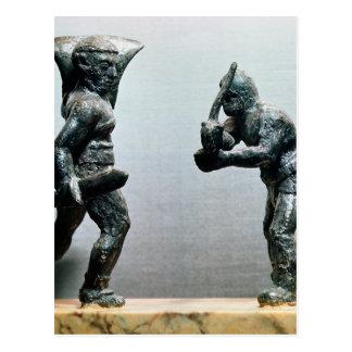 Zwei Gladiatoren im Kampf Postkarte
