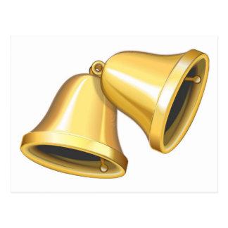 Zwei Gold Bell Postkarte