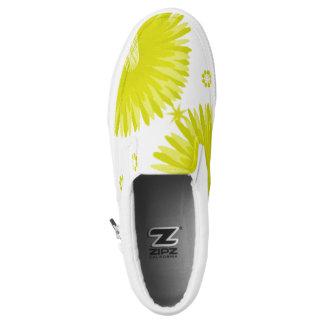 Zwei grüne Blumen Slip-On Sneaker
