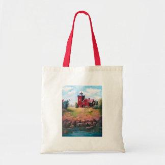 Zwei Hafen-Leuchtturm-Tasche