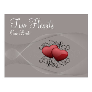 Zwei Herz-Postkarte Postkarte