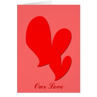 Zwei Herz-Valentinsgruß-Karte Karte
