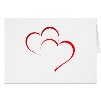 Zwei Herzen als eins Karte