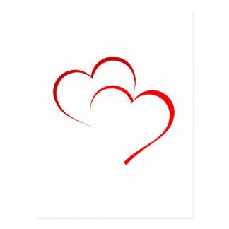 Zwei Herzen als eins Postkarte