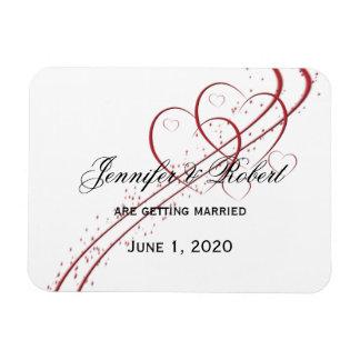 Zwei Herzen als eins Save the Date Magnet
