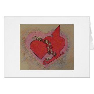 Zwei Herzen, die als eins schlagen Karte