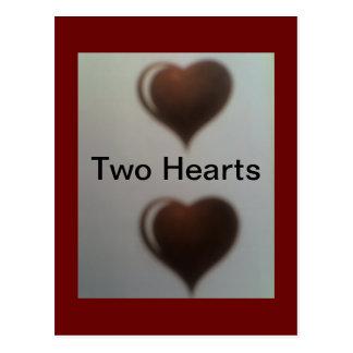 Zwei Herzen eine Liebe Postkarte