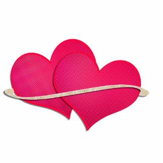 Zwei Herzen Fotoskulptur Schlüsselanhänger
