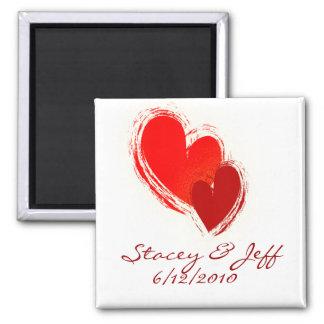 Zwei Herzen in der Liebe Kühlschrankmagnete