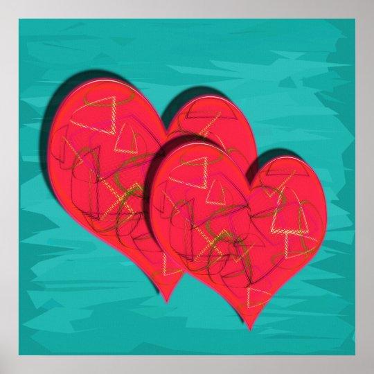 Zwei Herzen Poster