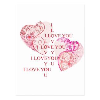Zwei Herzen Postkarte