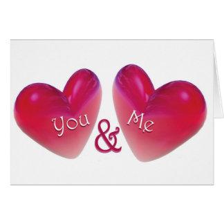 Zwei Herzen romantisch Karte