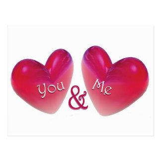 Zwei Herzen romantisch Postkarte
