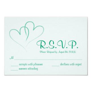 Zwei Herzen verflochtene Wedding UAWG Karte