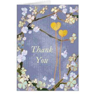 Zwei Herzen: Wedding Dankes- Karten