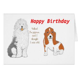Zwei Hunde, die Ihnen alles Gute zum Geburtstag Karte