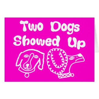 Zwei Hunde zeigten sich Anmerkungs-Karte Karte