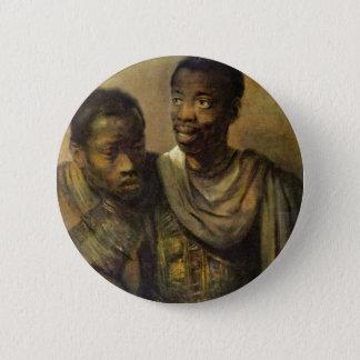 Zwei junge Afrikaner., Jonge durch Rembrandt Van Runder Button 5,7 Cm