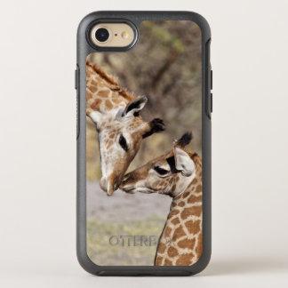 Zwei junge Giraffen OtterBox Symmetry iPhone 8/7 Hülle