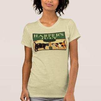 Zwei Kalikokatzen, Edward Penfield, Harpers Juli T-Shirt