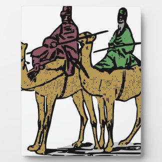 Zwei Kamel-Typen Fotoplatte