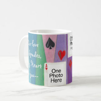 Zwei Karten in der Liebe-romantischen Tasse