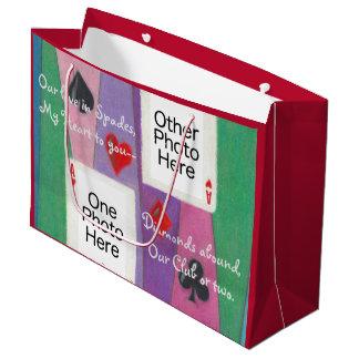 Zwei Karten-Valentinsgruß-Jahrestags-große Große Geschenktüte