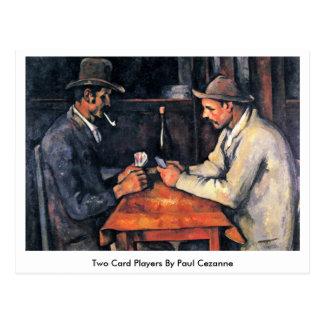 Zwei Kartenspieler durch Paul Cezanne Postkarte