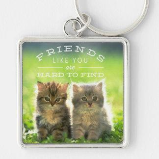 Zwei Kätzchen, Freunde, hart, Keychain zu finden Schlüsselanhänger