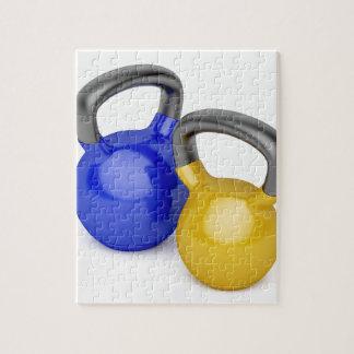 Zwei kettlebells puzzle