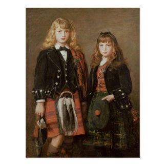 Zwei Kinder Postkarte