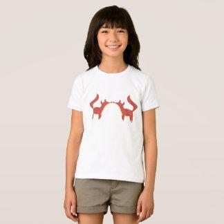 Zwei kleine orange Füchse T-Shirt