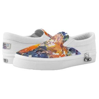 Zwei Koi Aquarell-Druck Beleg auf Schuhen Slip-On Sneaker