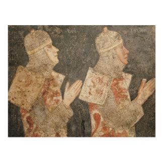 Zwei Kreuzfahrer der Minutolo Familie Postkarte
