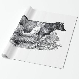Zwei Kuh-Packpapier Geschenkpapier