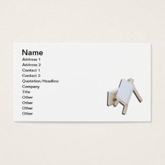 Zwei Leinwand-Gestell Visitenkarte