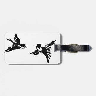 Zwei Liebevögel Gepäckanhänger