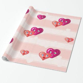 zwei liebevolle Herzen Geschenkpapier