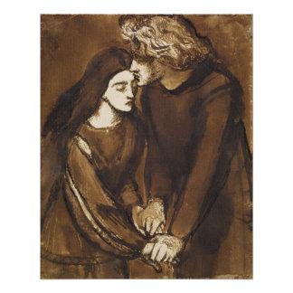 Zwei Liebhaber durch Dante Gabriel Rossetti Poster